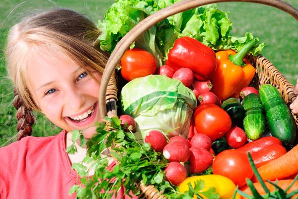 рекомендуется увеличить потребление овощей